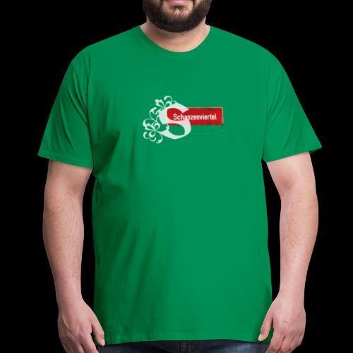 """(Hamburg) -St. Pauli Ortsschild mit Tattoo-""""S, T-Kiezshirt - Männer Premium T-Shirt"""