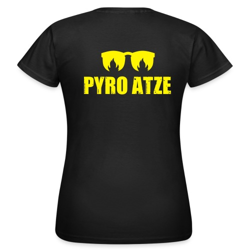 Damenshirt Pyro Atze backprint - Frauen T-Shirt