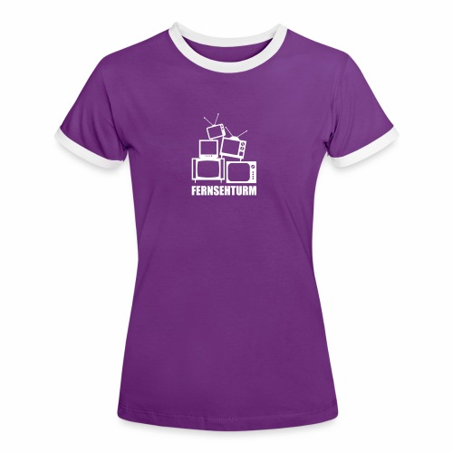 Fernsehturm, Lady - Frauen Kontrast-T-Shirt