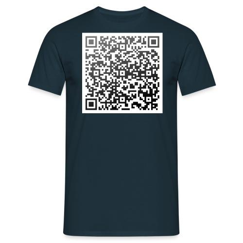 QR-Shirt: Einstein über die Dummheit - Männer T-Shirt