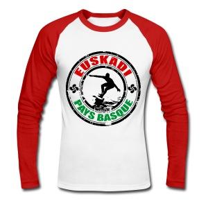 Euskadi - basque surfing - Men's Long Sleeve Baseball T-Shirt