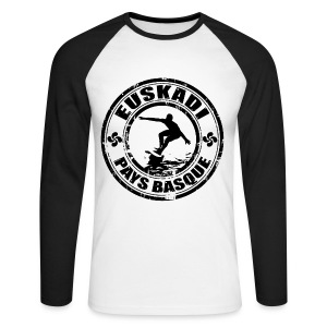 Euskadi - basque surfing - Men's Long Sleeve Baseball T-Shirt