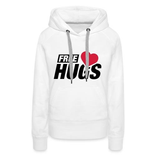 Free hugs heart - Vrouwen Premium hoodie