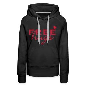 Free hugs hart - Vrouwen Premium hoodie