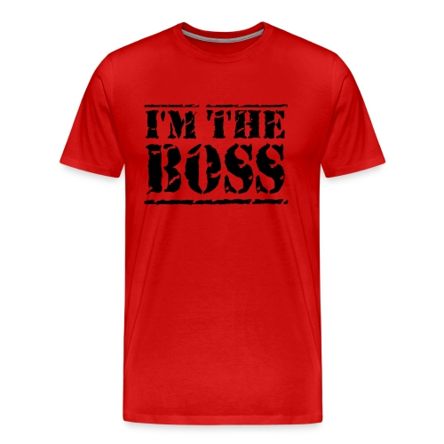 I'm the boss male T-shirt - Men's Premium T-Shirt