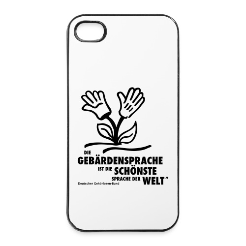 iPhone-Hülle (iPhone 4/4s) Schönste Sprache der Welt - iPhone 4/4s Hard Case