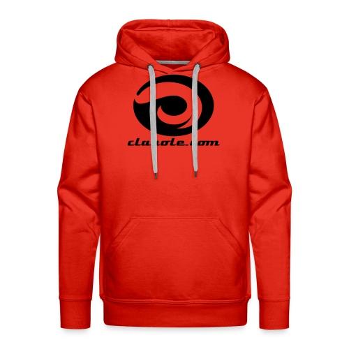 logo negro  - Sudadera con capucha premium para hombre