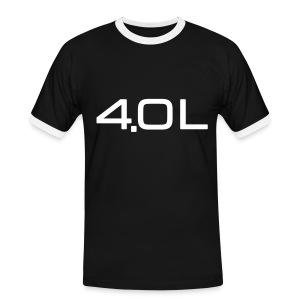 4.0 Litre - Kontrast-T-skjorte for menn