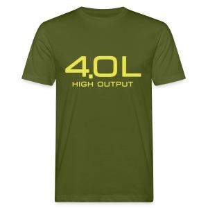 4.0 Litre High Output - Økologisk T-skjorte for menn