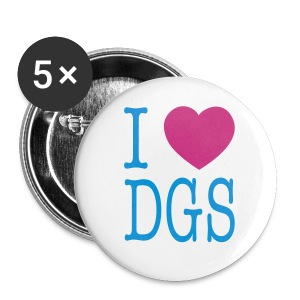 Button (I love DGS) - Buttons klein 25 mm