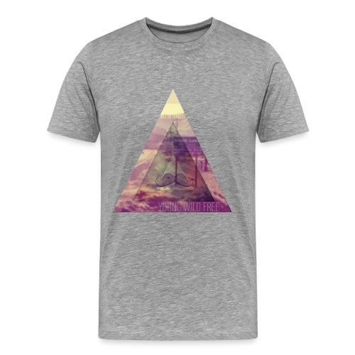 grijze shirt met illu  - Mannen Premium T-shirt