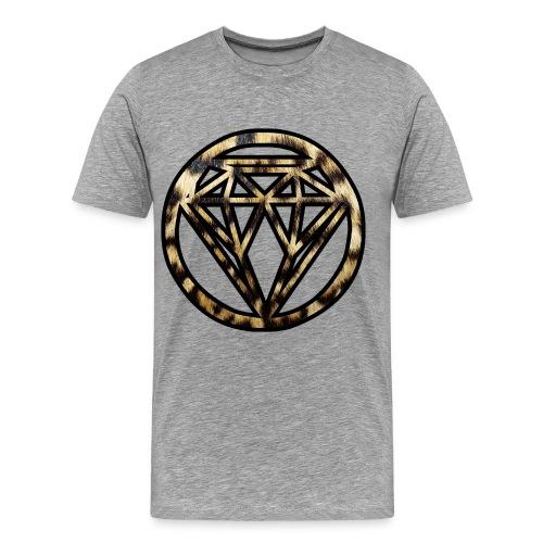 grijze shirt met panter diamand - Mannen Premium T-shirt