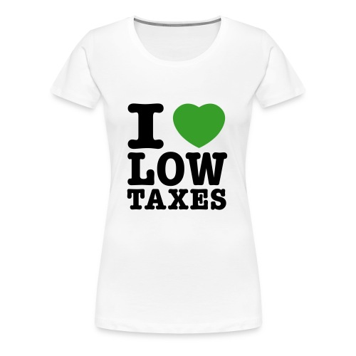 i_love_low_taxes_cmyk_2_spots_2 - Women's Premium T-Shirt