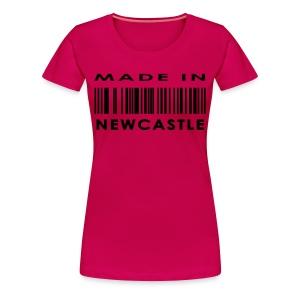 Womens Made In Newcastle Tee - Women's Premium T-Shirt