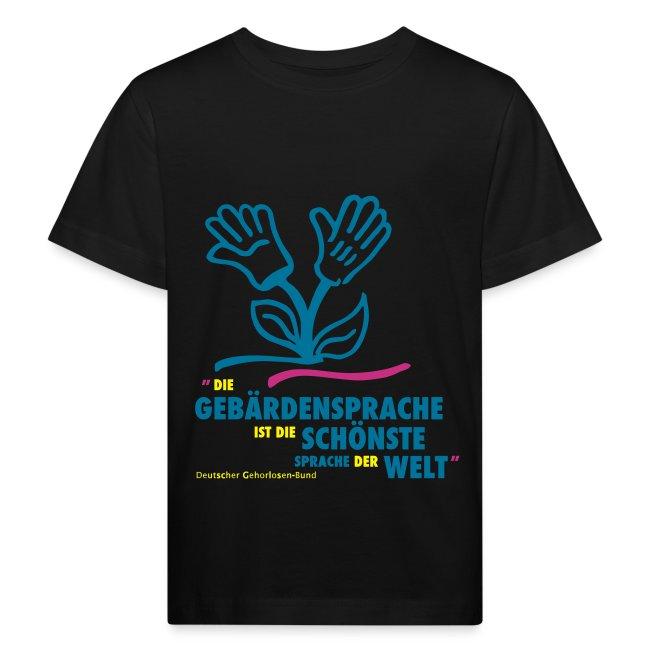 Kinder Bio T-Shirt (DGS schönste Sprache - Blume)