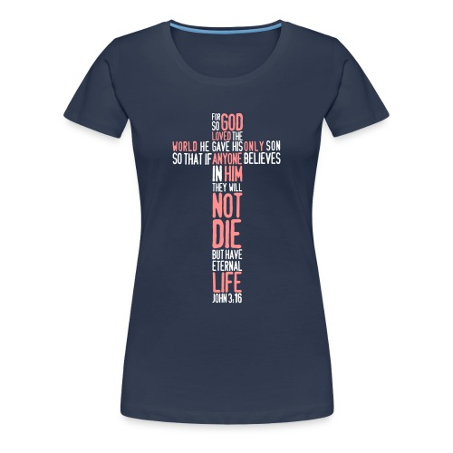 JOHN 3:16 - Koszulka damska Premium