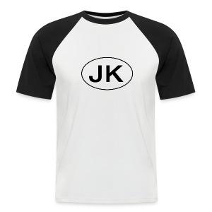 Jeep JK Wrangler Oval - Kortermet baseball skjorte for menn