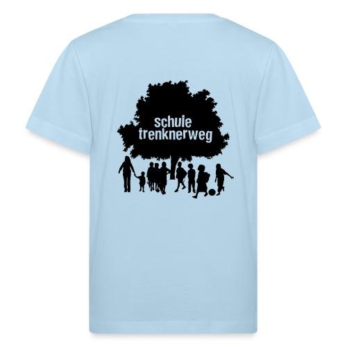 Grundschule Trenknerweg Logo - Schwarz - Rückseite - Kinder Bio-T-Shirt