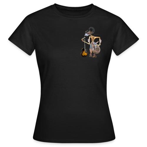 Wajang- vrouw-3k-zw - Vrouwen T-shirt