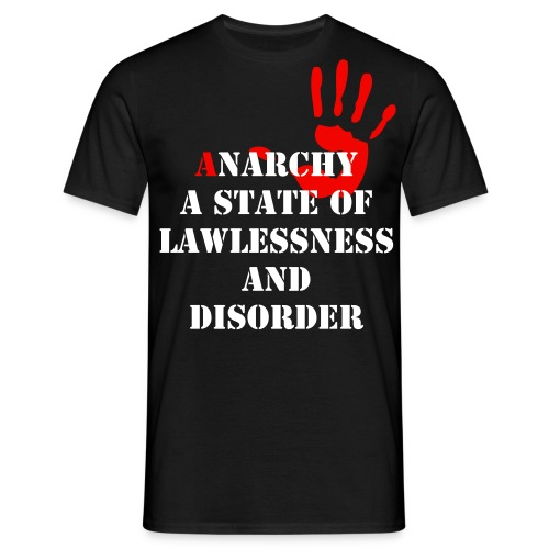 Anarchy Hand Tee - Men's T-Shirt