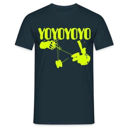 YOYO print in neon geel - Mannen T-shirt