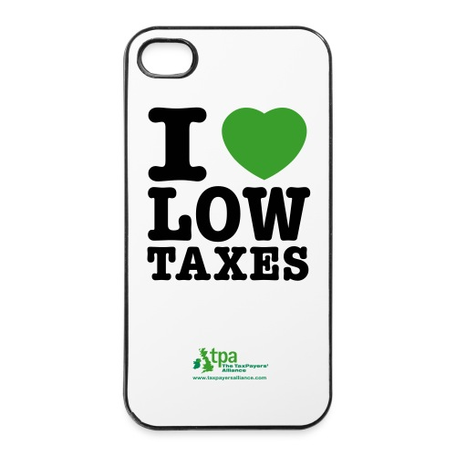 i_love_low_taxes_cmyk_2_spots_2 - iPhone 4/4s Hard Case