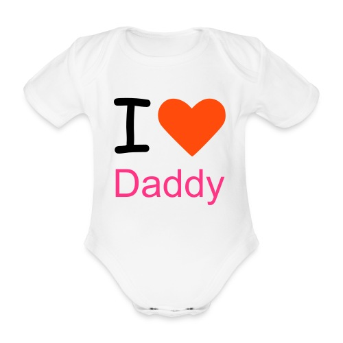 i love mummy baby girls  one piece  - Organic Short-sleeved Baby Bodysuit