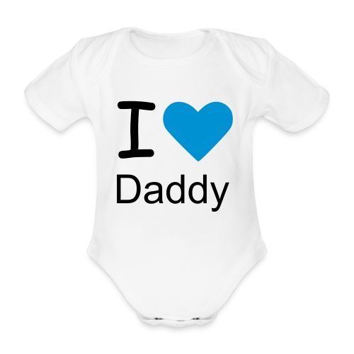 i love mummy baby boys  one piece  - Organic Short-sleeved Baby Bodysuit