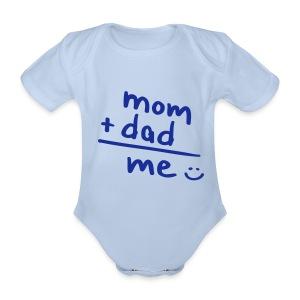 Mom + Dad = Me Baby rompertje - Baby bio-rompertje met korte mouwen