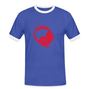 Słuchawki - Koszulka męska z kontrastowymi wstawkami