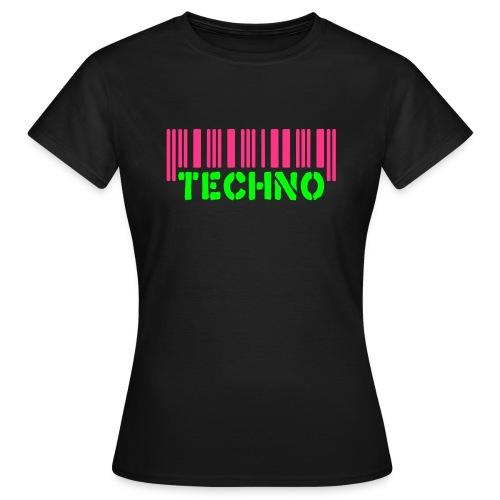 Bar Code Techno - Vrouwen T-shirt