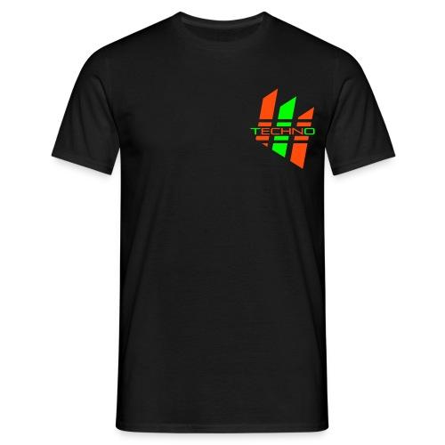 Green Red Techno - Mannen T-shirt