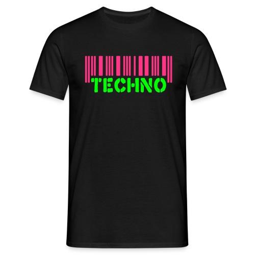 Bar Code Techno - Mannen T-shirt