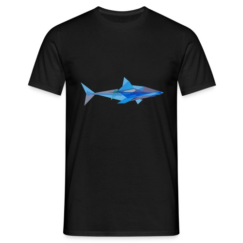 Geometric Shark  - Men's T-Shirt