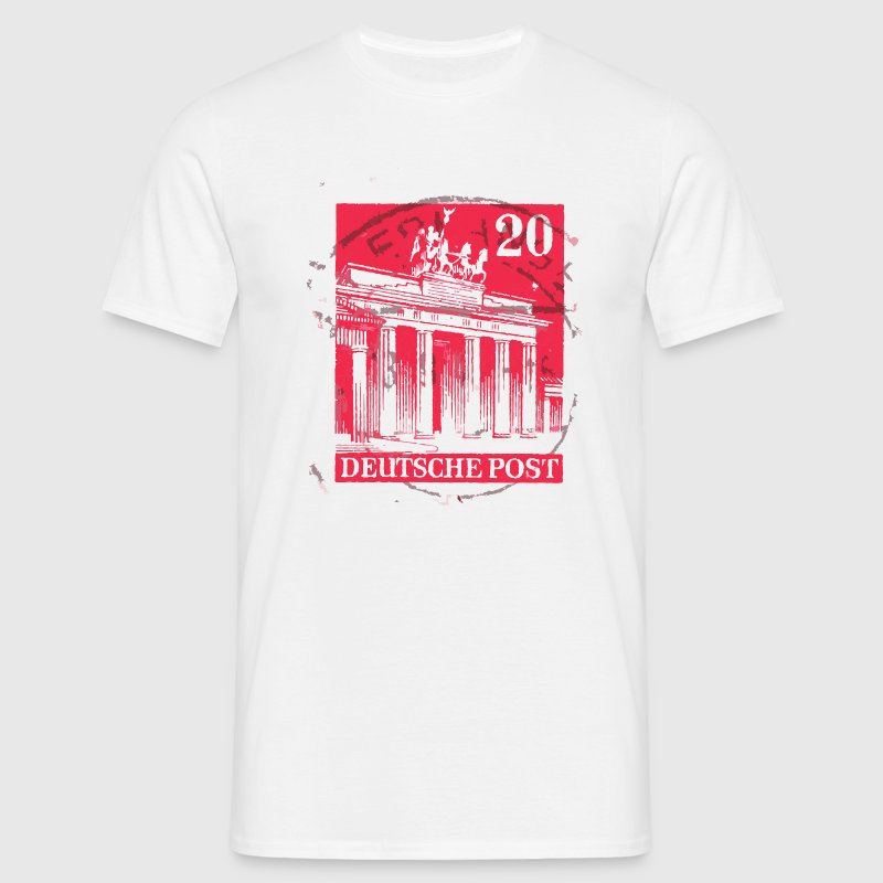 Berlin Brandenburg Gate Red Stamp - Men's T-Shirt