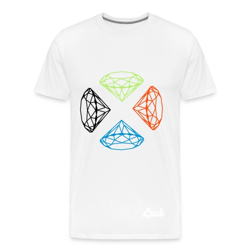 Exclusive Luck SQUAREDIAMOND LUCK - Men's Premium T-Shirt