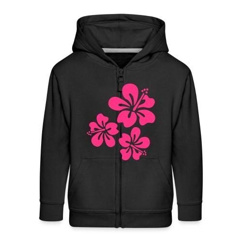 Flauschie Jacke für Mädels - Kinder Premium Kapuzenjacke