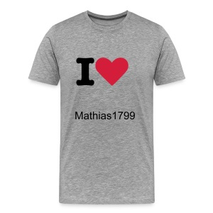 T-shirt  I  Love Mathias1799  - T-shirt Premium Homme