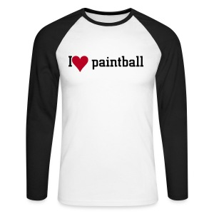 I love paintball pitkähihainen - Men's Long Sleeve Baseball T-Shirt