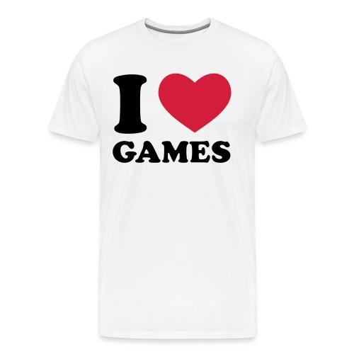 I love Games - T-shirt Premium Homme