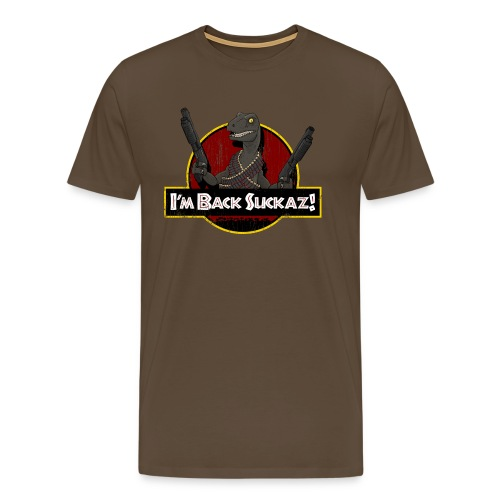 Men's Premium T-Shirt - park,movies,lizard,jurassic,T-rex,Raptor,Dinosaurs