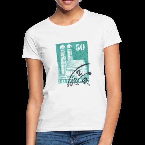 München Briefmarken T-Shirt - Frauen T-Shirt