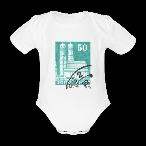 München Briefmarken Babybody - Baby Bio-Kurzarm-Body