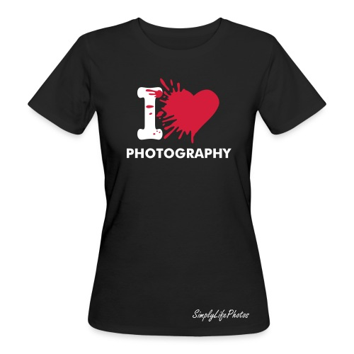 I Love Photography - Frauen Bio-T-Shirt - Frauen Bio-T-Shirt
