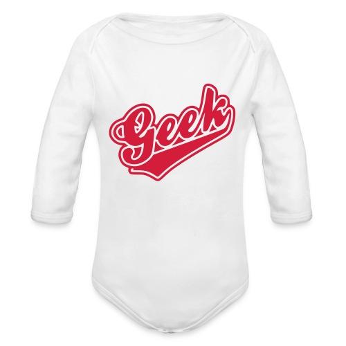 Geek Baby Grow - Organic Longsleeve Baby Bodysuit