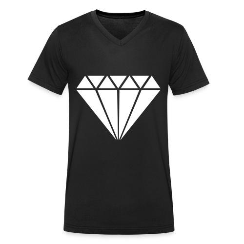 Diamond || Shirt Men - Mannen bio T-shirt met V-hals van Stanley & Stella