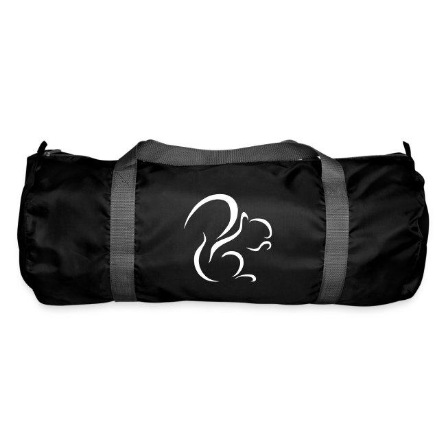 Logo Duffell Bag (White on Black)