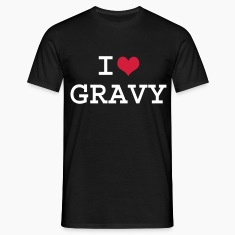 Black I Love Gravy Men's Tees