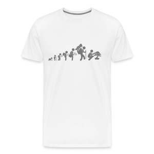T-Shirt Homme Bonsaïka evolution Gris - T-shirt Premium Homme