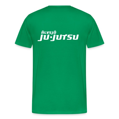 Logo på bröst + ryggtryck.  - Premium-T-shirt herr